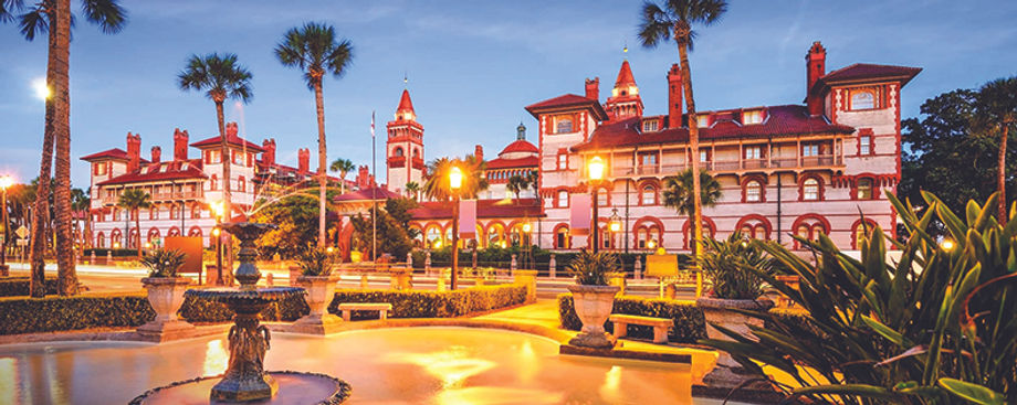 Evening falls on St. Augustine