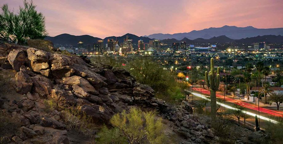 The Phoenix Skyline from South Mountain Park