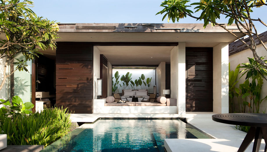 Bamboo ceilings in the villas increase air flow and cut back on the need for air conditioning.