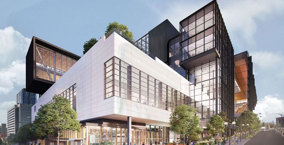 Rendering of the expanded Washington State Convention Center