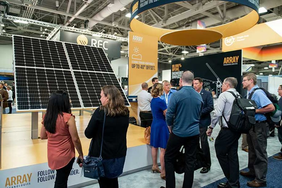 Exhibitors at Smart Energy Week show off the latest in solar technology.