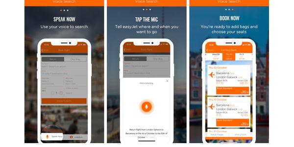 Travelport EasyJet voice search in app