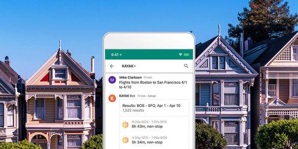Kayak Google Hangouts Chat bot