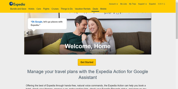 Expedia Google Assistant book action