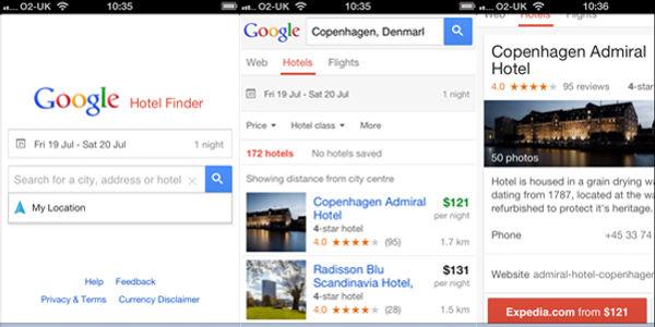 Google debuts Hotel Finder on mobile, updates UX