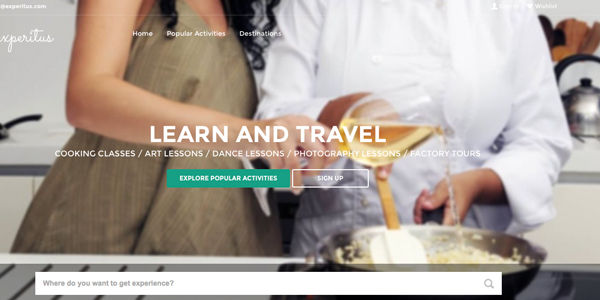 Startup pitch: Experitus is a travel experience marketplace
