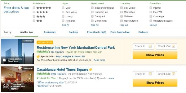 TripAdvisor gives high profile spot to paying hotels in new ad test