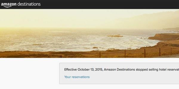 Amazon Destinations stops selling travel