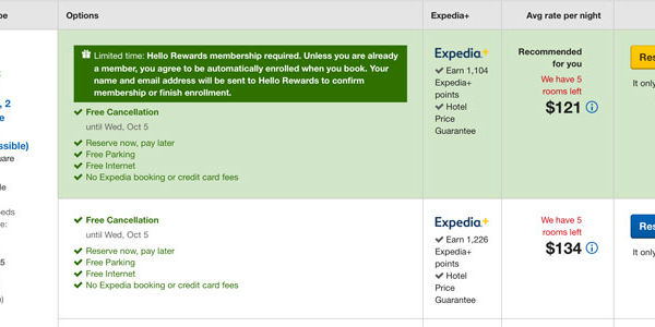 In a first, Expedia promotes a hotel's loyalty rates and rewards program