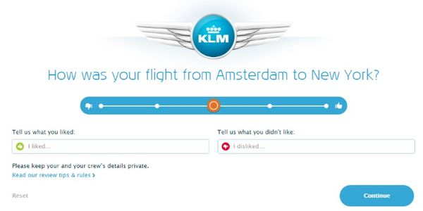 KLM wants flight transparency, adds reviews and ratings to search results