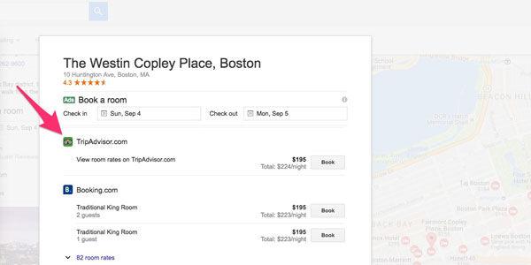 TripAdvisor lists hotels on Google, Kayak, and Trivago, edging closer to meta metasearch