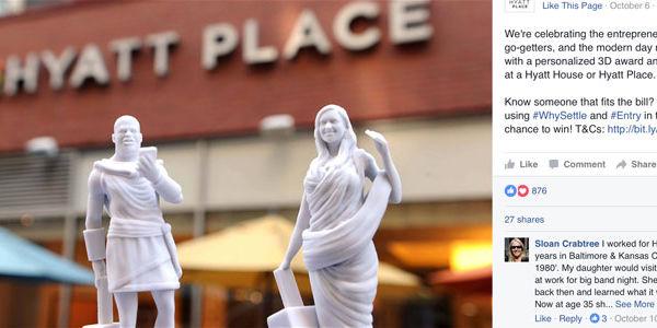 Hyatt adds 3D printing to travel's digital marketing toolkit