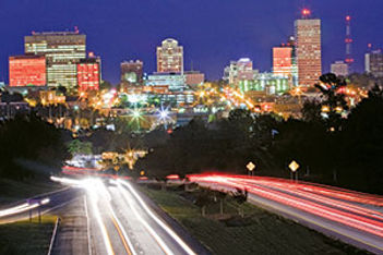 Columbia, SC highway skyline