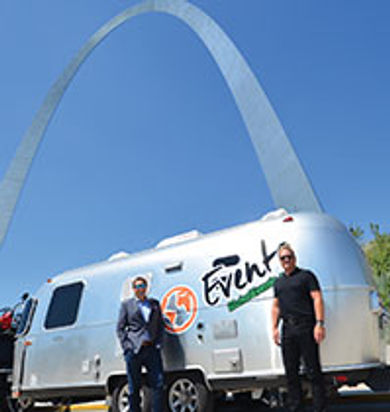 Globo Evento created a mobile showroom with the Global Evento Airstream Travel Trailer