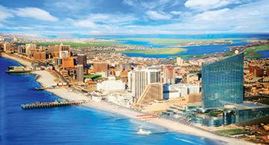 Atlantic City Beachfront Boardwalk skyline