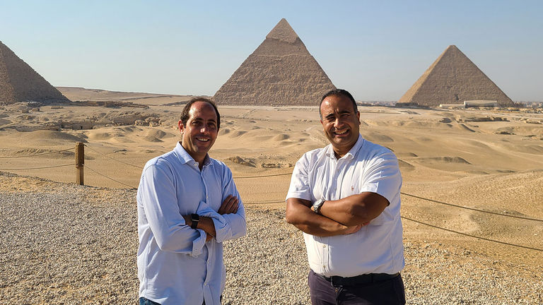 Ramez Salama (right), president of High End Journeys