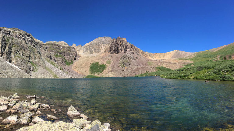Enjoy quietude on the banks of Cathedral Lake.