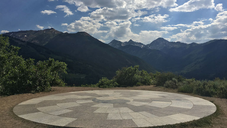 Spiral Point's marble slab with a yin-yang symbol honors Stark King, a Snowmass local who came up with the idea for the project but died of pancreatic cancer before he was able to work on it.