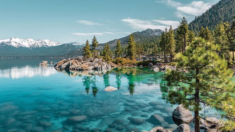 Lake Tahoe offers hiking in the Sierra Nevada range.