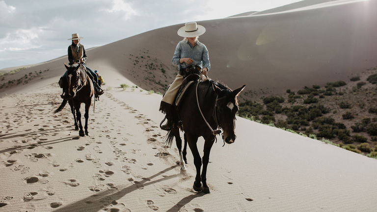Ride Zapata's horses on nearby sand dunes.