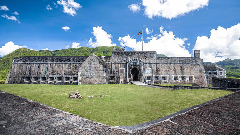 Travelers who test negative on their seventh day in St. Kitts and Nevis can take tours outside their resort, including visits to Brimstone Hill National Fortress.