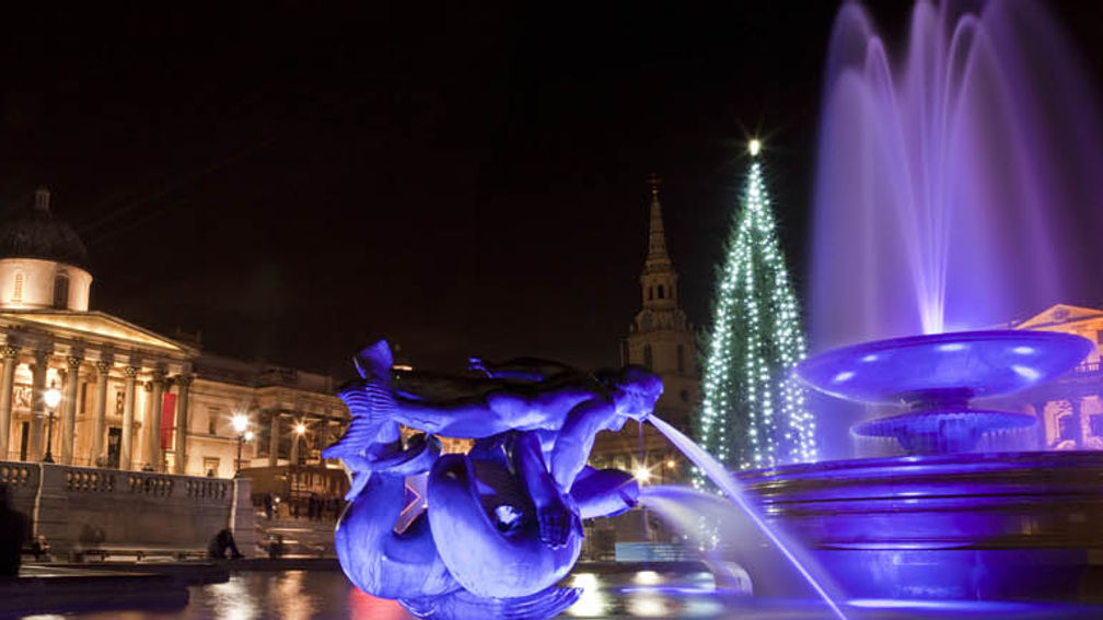 London attractions that get in the Christmas spirit include Trafalgar Square and the Natural History Museum. // © 2013 Thinkstock F