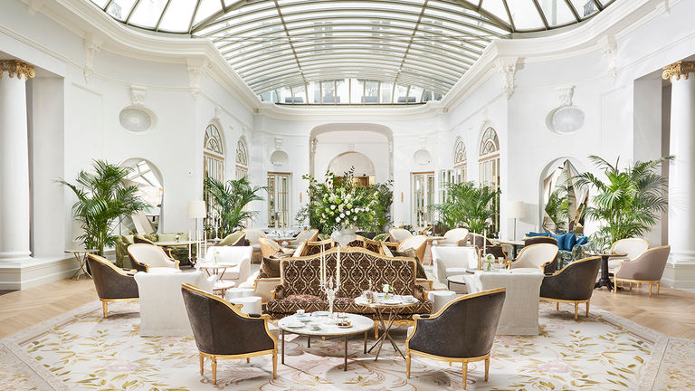 Mandarin Oriental Ritz's light-filled Palm Court