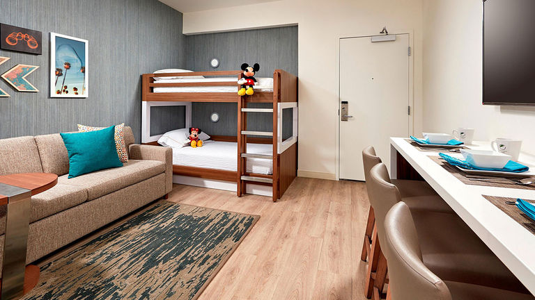 Element Anaheim offers 75 kids' suites with bunk beds.