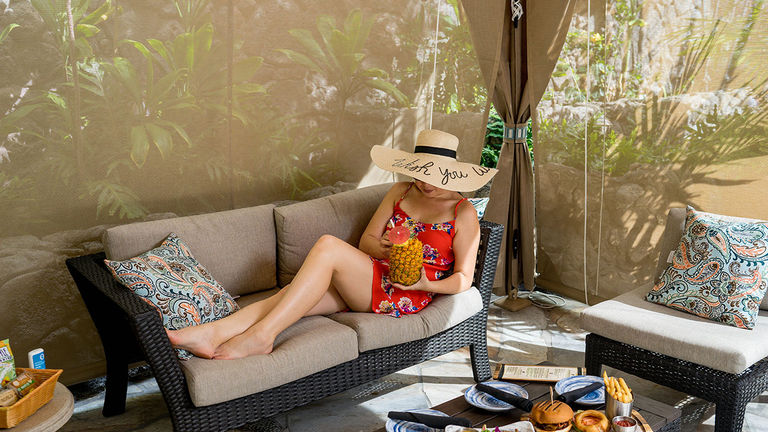 Outrigger Reef Waikiki Beach Resort now offers private poolside cabanas with plenty of amenities.