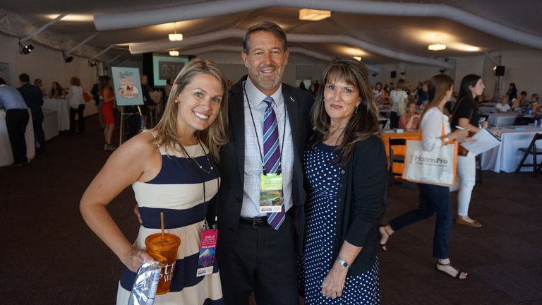 Geri Harvey and Jeff Gundlach at Northstar Travel Group's GTM West conference in May 2016