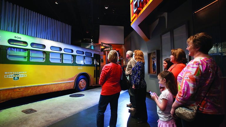 An exhibit at the Rosa Parks Museum