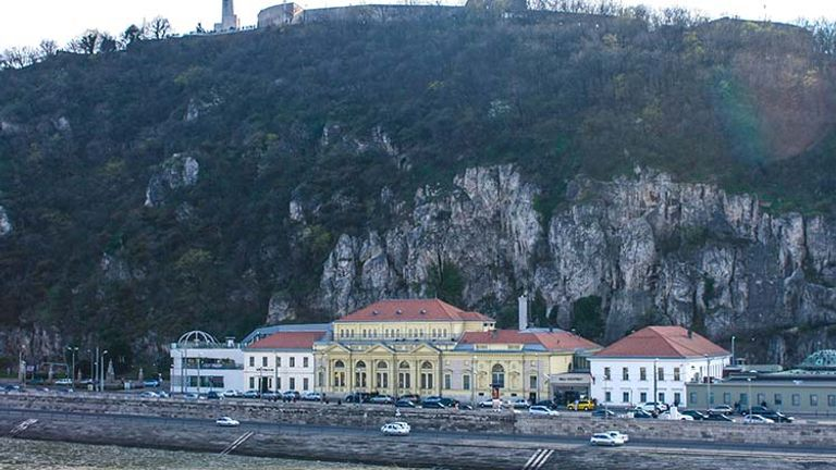 The view of Rudas Baths from across the Danube at Elizabeth Bridge // © 2016 Josalin Saffer