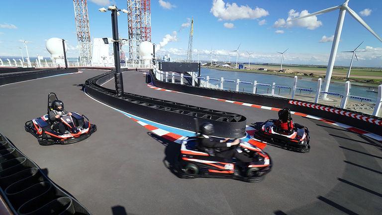 Race around Norwegian Bliss's upper deck on a go-kart.