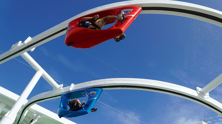 SkyRide is onboard Carnival Cruise Line's Carnival Horizon and Carnival Vista ships.