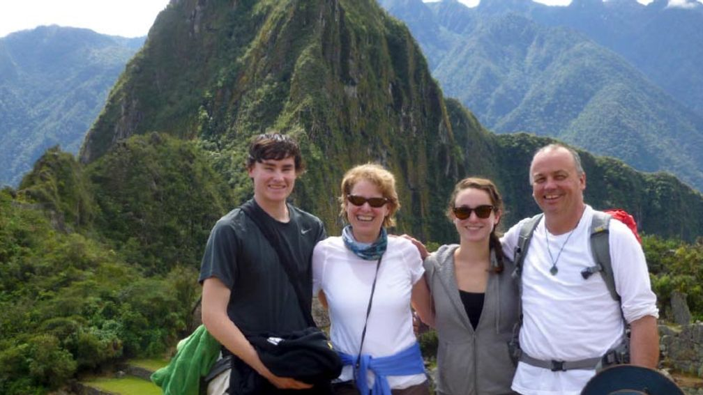 The family reached Machu Picchu on day four of their journey. // © 2015 Cindy D. Sheaffer 2