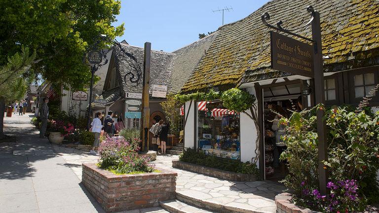 Carmel-by-the-Sea has many quaint local shops.