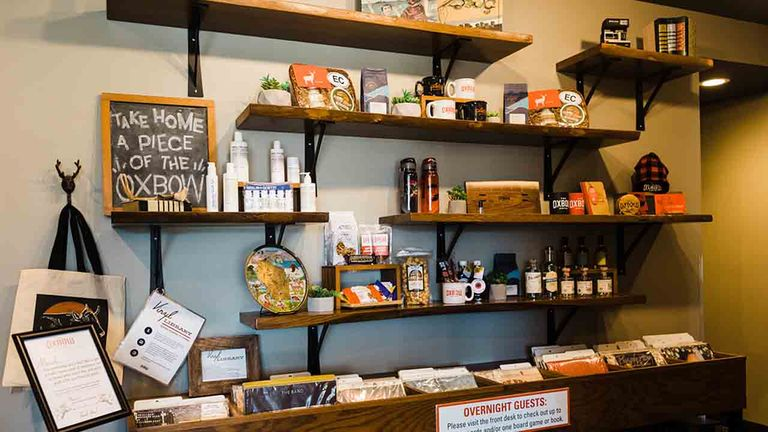 Board games and vintage records are available to rent.