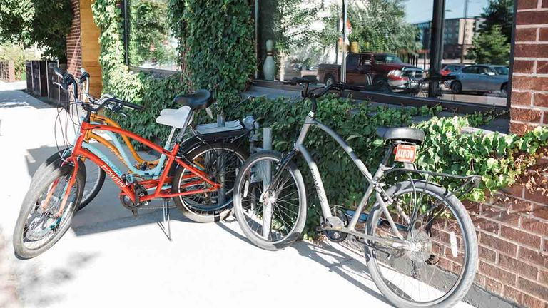 Bike rentals are free for guests.