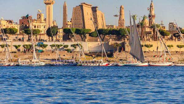 """Luxor, a city in upper Egypt on the east bank of the Nile River, is described as an """"open-air museum. Credit: Getty Images/OlyaSolodenko"""