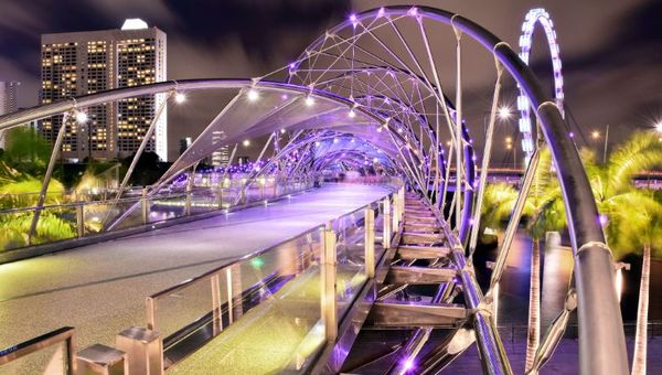 Singapore's DNA-inspired Helix Bridge was an obvious filming choice for Westworld.