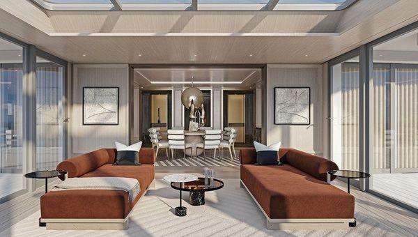 The Regent Suite boasts a sky-lit and glass-enclosed parlour.