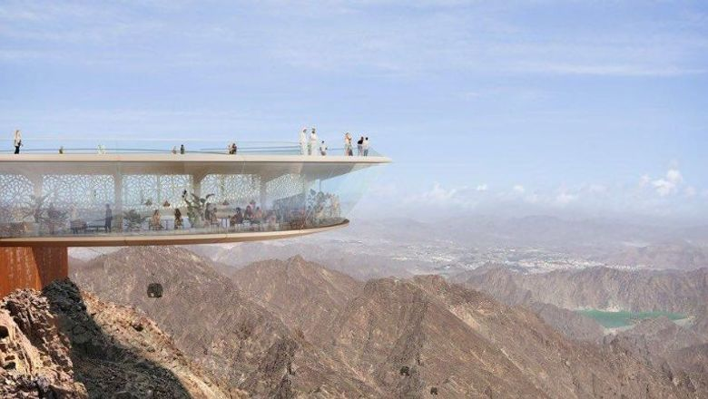 The Dubai mountain peak viewing deck, supported by new chairlifts, cable car station and hiking trails as well.