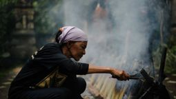 Ubud food festival being kept on a hotplate