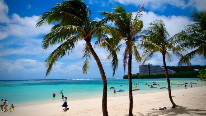 Sun, sea and shots await vaccine tourists to Guam. They will have a choice of Pfizer, Moderna or Johnson & Johnson brands.