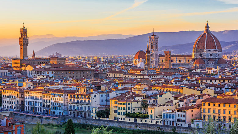 The Palazzo Vecchio and the Duomo dominate the Florence skyline.
