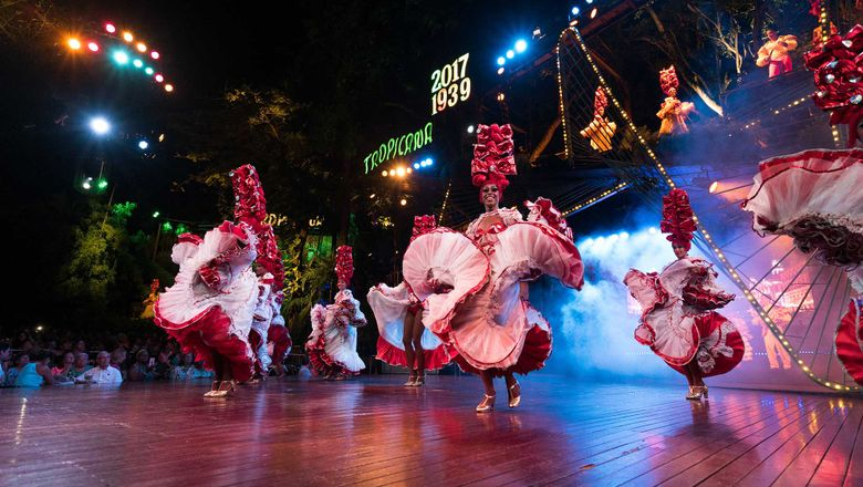A dance review at the Tropicana Caberet in Havana is one of the excursions offered by Azamara Club Cruises in Cuba.
