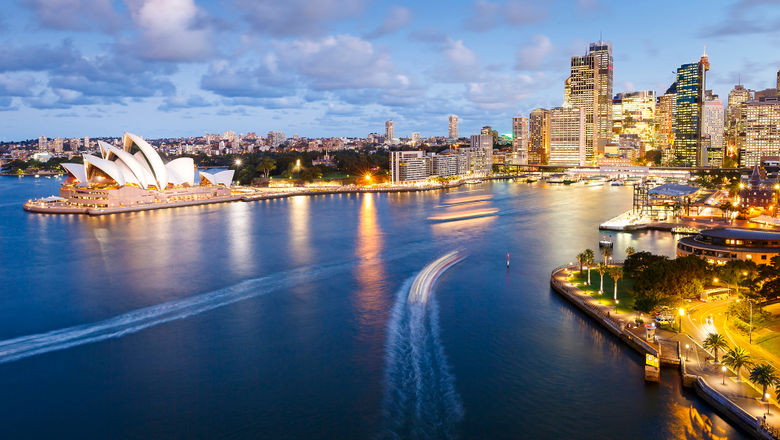 Australia's travel restrictions have kept life fairly normal for much of the pandemic -- though it is now experiencing shutdowns in the biggest cities, Sydney (pictured) and Melbourne, as well as the capital Canberra.