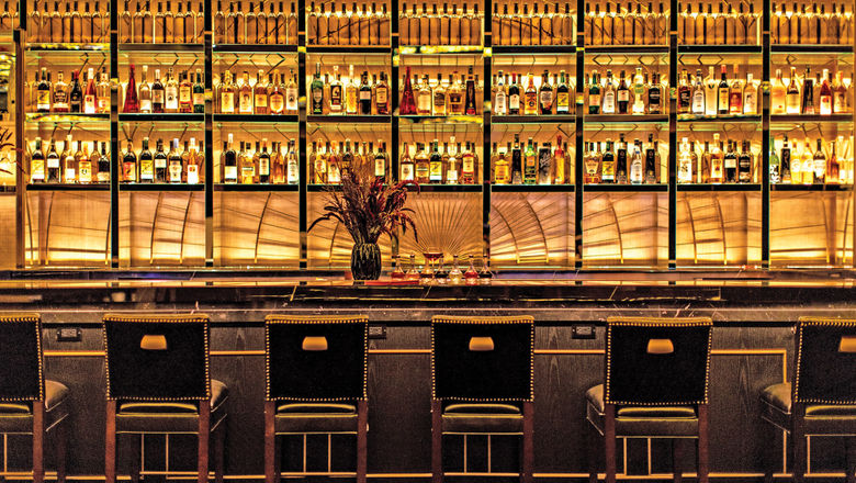 """The NoMad Bar serves a full array of classic and original cocktails, including large format """"cocktail explosions"""" meant to serve a crowd."""