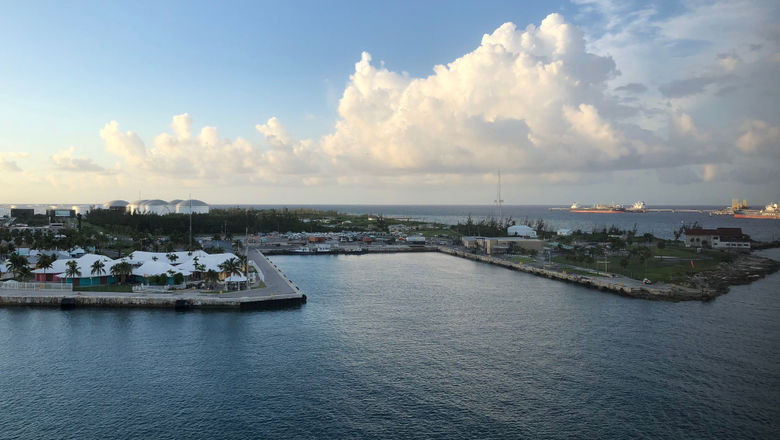 The existing cruise berths at Lucayan Harbor at Freeport accommodate a maximum of four ships. Royal Caribbean proposes to expand that.