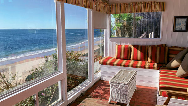 The view from one of the cottages in the Crystal Cove Historic District in Newport Beach, Calif.